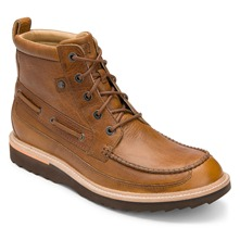 Men footwear: Brown Leather Union Street Moc Boots