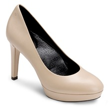 Cream Leather Janae Shoes 10cm Heel