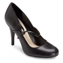 Black Leather Presia Mary Janes Shoes 9cm Heel