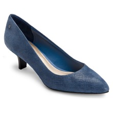 Blue Lilah Leather Shoes 4cm Heel