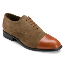 Brown Lola Cap Toe Leather Oxford Shoes