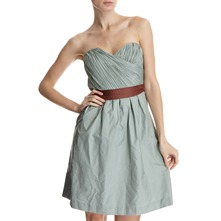 Mint Pleated Bodice Dress