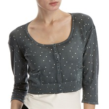 Steel Spotted Cropped Cardigan