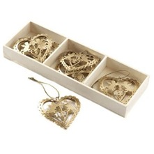 Gold Heart/Angel Decorations