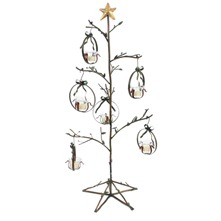 Silver Twig Votive Tree