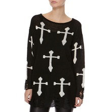Black Cross Jumper