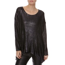 Black Metallic Knit Jumper