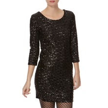 Black Allover Sequin Dress