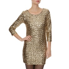Gold Allover Sequin Dress