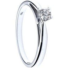Silver Solitaire Diamond Ring