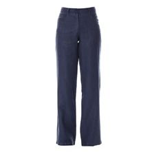 Pantalon en lin bleu denim