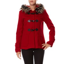 Manteau rouge  capuche
