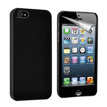 Coque silicone  iPhone5 noir