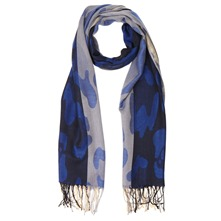 Black/Blue/Cream Pashmina