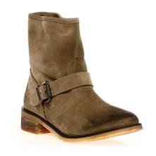 Boots Blydge en cuir taupe