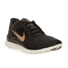 Baskets Wmns nike free run+ 3 mid noires