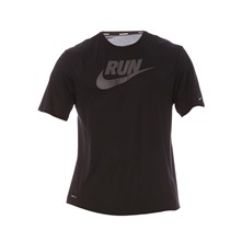 T-shirt Nike Run Swoosh noir