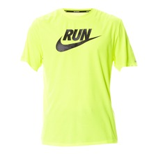 T-shirt Run Swoosh Tee jaune fluo
