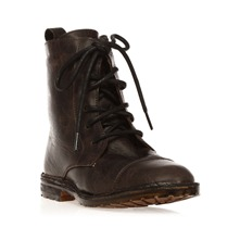 Bottines en cuir craquel marron Mitad