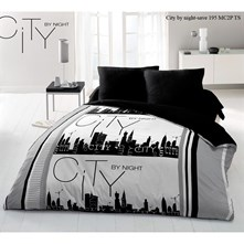 City By Night - Parure letto - nero
