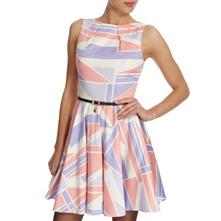 Pink/Purple Jubilee Print Dress
