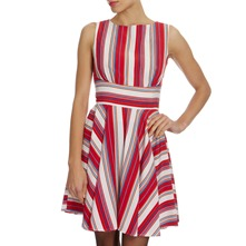Red/White Striped Dress