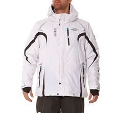 Veste de ski  capuche  Xylos blanche