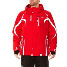 Veste de ski  capuche Xylos rouge