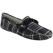Men footwear: Black/White Shearling Carson Slippers