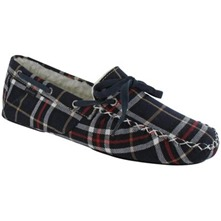Men footwear: Navy/White/Red Shearling Carson Slippers