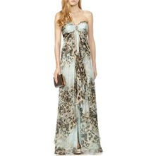 Green/Multi Animal Print Maxi Dress
