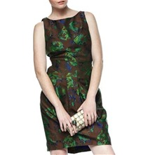 Brown/Green Larkin Embroidered Dress