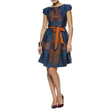 Blue Jasmine Border Print Dress