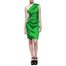 Green One Shoulder Embellished Dress