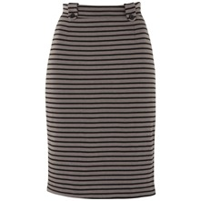Grey/Black Zebra Stripe Skirt