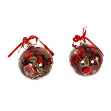Lot de 2 boules de Noel pot pourri