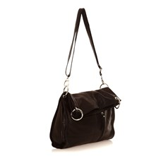 Sac  main en cuir noir