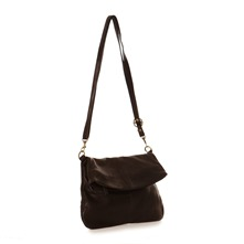 Sac bandoulire en cuir noir