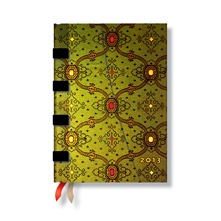 Agenda Soie Verte 120*170 mm Midi horizontal