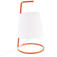 Orange/White Metal Table Lamp