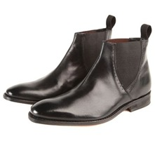 Men footwear: Black Lancaster Leather Chelsea Boots