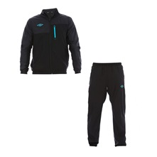Ensemble suvtement veste et bas de jogging noir et turquoise