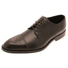 Men footwear: Brown Jafar Derby Leather Shoes