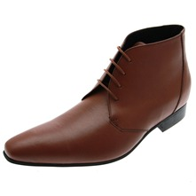 Men footwear: Cognac Jindo Leather Ankle Boots