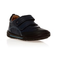 Baskets Flexy Soft en cuir bleu marine tet noir