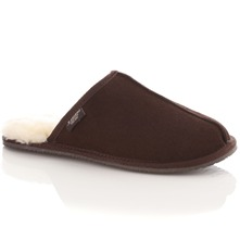 Men footwear: Men's Brown Sheepskin Slippers