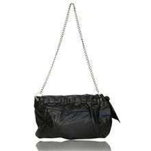 Sac chaine Texas en cuir noir