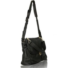Sac cartable July en cuir noir