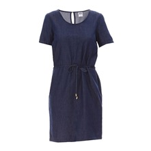 Robe en denim bleue