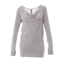 Pull-tunique gris chiné